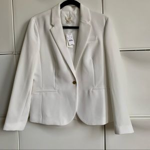 J. Crew White Blazer Fully lined Sz 12